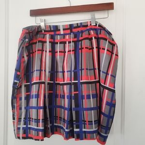 Banana Republic Blue, red, gray plaid skirt sz 14